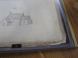 Närbild av bokhörn, visar skanningens höga kvalitet