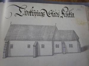 Uppslag visar Lidköpings stads kyrka
