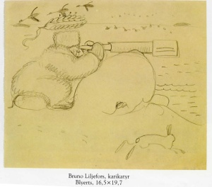 Karikatyr Bruno Liljefors